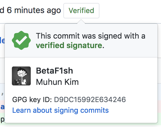 GPG sign generate for GitHub in Mac OS